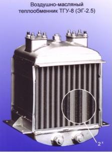 Воздушно-масляный теплообменник для турбогенераторной установки ТГУ-8